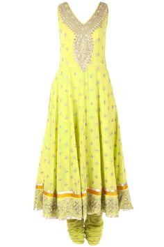 Lime green embroidered kurta set BY ANITA DONGRE. Shop now at perniaspopupshop.com