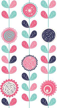 Adhesivo decorativos flores en vertical