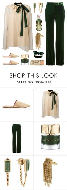 """""""Green and Blush Fashion"""" by deepwinter ❤ liked on Polyvore featuring Tory Burch, Chloé, Emilio Pucci, Smith & Cult, Michael Kors and BCBGMAXAZRIA"""