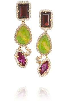 Erickson Beamon Martini Twist gold-plated Swarovski crystal earrings