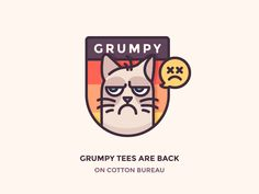 I've made this simple badge to celebrate that grumpy tees are back on Cotton Bureau. And it's grumpier than ever!  When you are wearing this t-shirt, no one will dare come near you before your morn...