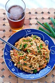 Butter Than Toast: Thai Peanut Sauce Noodles with Veggies and Chicken