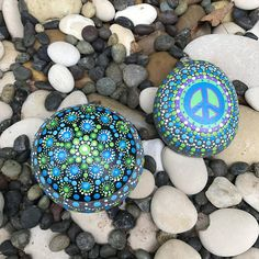 Big Mandala Rock with Bonus matching Peace Rock