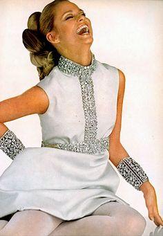 Lauren Hutton by David Bailey for Vogue US, 1967