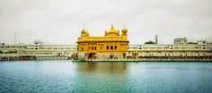 The Golden Temple at Amritsar, in all its glory.  A place of worshop revered for its beauty and peace, it was originally called Darbar Sahib, and later came to be known as Harmandir Sahib.