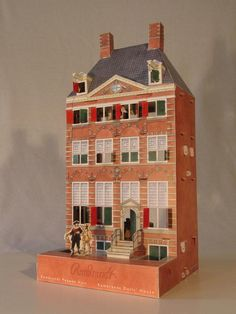 The Terrier and Lobster: Paper Rembrandt dolls house. Piet Design.