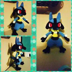 Complete! Pattern from #amigurumiedshoppe #lucario #amigurumi #pokemon #crochet by _inusasha_