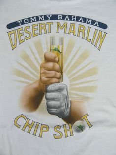 "NWT Tommy Bahama Men S T-Shirt ""Desert Marlin Chip Shot"" White SS Relax Golf New #TommyBahama #GraphicTee"