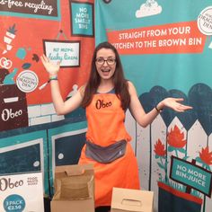 Obeo co-founder Liz Fingleton at Bloom 2016, Phoenix Park Dublin weareobeo.com #obeo #food #waste #box Bloom 2016, Free Recycle, Food Waste, Dublin, Phoenix, Recycling, Reusable Tote Bags, Park, Box