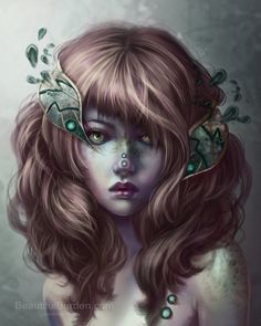 This collection of female fantasy portraits is by Jennifer Healy, all of her paintings are painted in Photoshop with an Intuos or Cintiq. She started her digital paintin