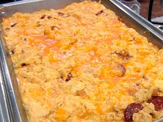Pepperoni and Cheese Scrambled Eggs Recipe : Robert Irvine : Food Network - FoodNetwork.com