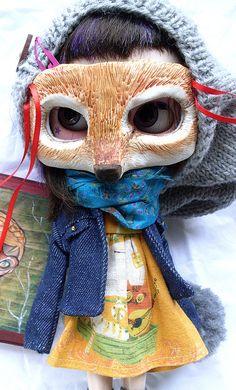 Roxana pullip with fox mask