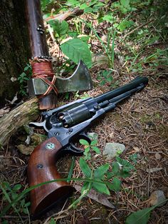 """Longhunter"" and Ruger Old Army C&B Revolver Weapons Guns, Guns And Ammo, Armas Wallpaper, Black Powder Guns, Hunting Rifles, Cool Guns, Firearms, Shotguns, Hand Guns"