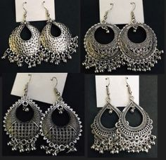 jewelryclub | Buy Jewellery Online in India at Low prices jewelryclub.in........ Indian Jewelry Earrings, Women's Earrings, Jewelry Art, Crochet Earrings, Silver Jewelry, Silver Ring, Buy Jewellery Online, Oxidised Jewellery, Key Necklace
