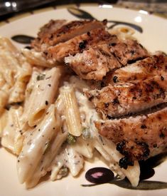 Creamy Grilled Chicken Piccata - so good that I wanted to lick the bowl!