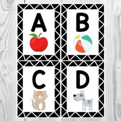 Here are three sets of alphabet flashcards free printable. These flashcards come with uppercase and lowercase letters featuring cute pictures. Alphabet Flash Cards Printable, Letter Flashcards, Flashcards For Kids, Alphabet Cards, Printable Cards, Free Printables, Abc Alphabet, Alphabet For Kids, Alphabet Worksheets