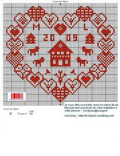 09 Le Point, 3, Alphabet, Cross Stitch, Creations, Hearts, Punto De Cruz, Alps, Dots