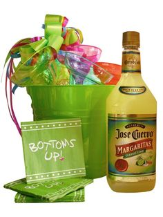 Margarita Party Pail Gif Margarita Party Pail for 10! Authentic Jose Cuervo Margarita Classic Lime 1.7 5 ml made with Cuervo Gold Tequila packaged inside a colorful party pail. Just pour over ice and enjoy. Jose Cuervo Tequila 1.75 ml 10 Bright Color Acrylic Margarita Glasses 20 Beverage Napkins Price: $75.00