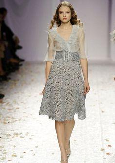 Дизайнерская юбка, связанная крючком