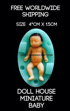 Baby Mold, Baby Fairy, Miniature Dolls, Dollhouse Miniatures, Sculpting, Fairies, Fimo, Faeries, Sculpture
