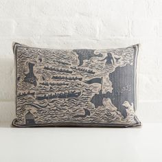 Cushion by Cameron Short Collagraph, Textiles, Lampshades, Handmade Crafts, Decorative Accessories, Printmaking, Craftsman, Objects, Cushions