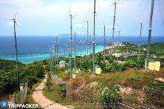 Windmills before view point, Koh Lan, Chonburi. กังหันลมที่เนินเกาะล้าน จ.ชลบุรี