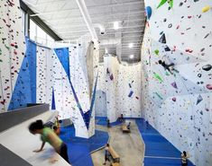 Built by Smith Vigeant Architectes in Montreal, Canada with date 2013. Images by Stéphane Brugger. The rock climbing gymAllez-Upis at the heart of the revitalization project for Montreal's Southwest borough. Flanki...