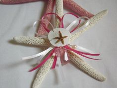 Starfish Ornament with Sand Dollar, Crystals and a Tiny Brown Starfish Seashell Ornaments, Seashell Art, Christmas Tree Ornaments, Starfish, Nautical Christmas, Nautical Home, Sea Shells, Crystals, Unique Jewelry