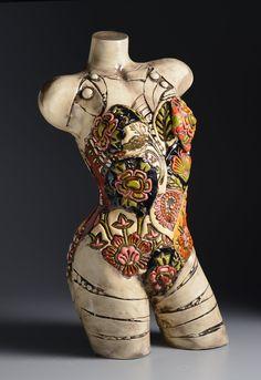 The Bathing Suit Torso – Ceramic Art, Ceramic Pottery Sculptures Céramiques, Polymer Clay Sculptures, Ceramic Sculptures, Sculpture Metal, Pottery Sculpture, Human Sculpture, Ceramica Artistica Ideas, Mannequin Art, Ceramics Projects