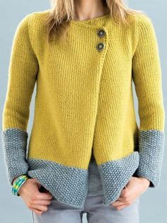 Cardigans For Women, Free Knitting, Baby Knitting, Cardigan Fashion, Chic Outfits, Types Of Sleeves, Knitwear, Sweaters, Sweater