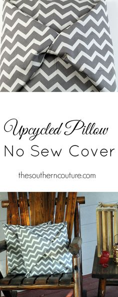 You must see this tutorial before throwing out your old pillows. You can cover them with fabric and no sewing required for a brand new look. The easy-to-follow instructions are at thesoutherncouture.com.