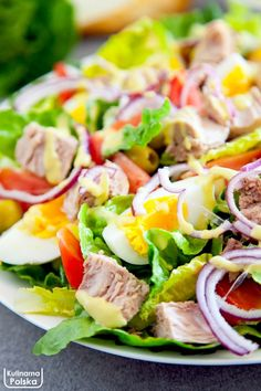 Fish Salad, Tuna Salad, Cobb Salad, Bento, Salad Recipes, Salads, Lunch Box, Food And Drink, Cooking