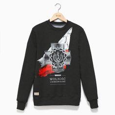 Bluza patriotyczna Bluza crewneck Wolność i Niezawisłość - odzież patriotyczna Red is Bad