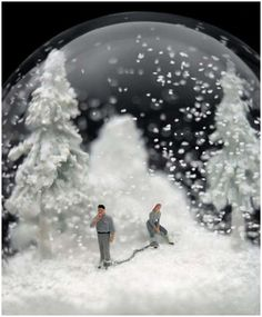 A design affair snow globe art art pinterest art globes and snow wonderful snow globes by walter martin paloma munozi could literally gumiabroncs Choice Image
