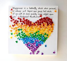 NEW INSPIRATIONAL QUOTE  3D Butterfly Heart with Your