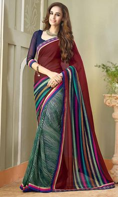 Buy MultiColor Printed Saree at Discounted Prices - SAPVP15018