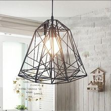 Wholesale Creative iron article bar pendant lights with bulbs industrial style lamp for study room coffee bar(China (Mainland))