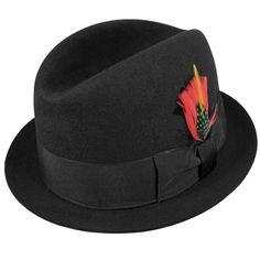 Rude Boy Fur Felt Trilby Fedora Hat