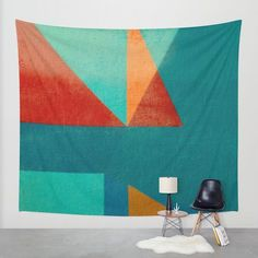 Sailing in River Mouth Wall Tapestry