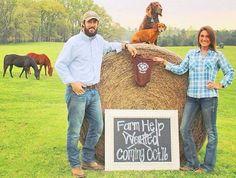 Farm Pregnancy Announcment