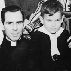 Archbishop Sheen with his cousin Tom Holliger