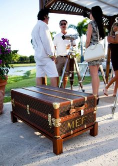 our Louis Vuitton trunk on display at the Palm Beach Polo Golf and Country Club. Louis Vuitton Suitcase, Louis Vuitton Trunk, Vintage Louis Vuitton, Louis Vuitton Handbags, Goyard Luggage, Suitcase Display, Louise Vuitton, Campaign Furniture, Vintage Trunks