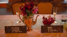 Mr & Mrs. Wedding Chalk Signs.