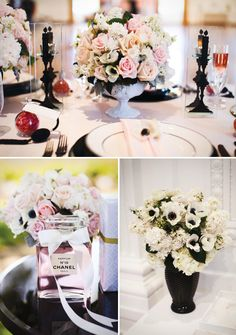 Party theme: Chanel inspired bridal Shower - Black & White Decor