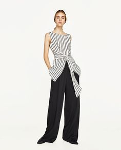 STRIPED TOP-View All-TOPS-WOMAN | ZARA United States