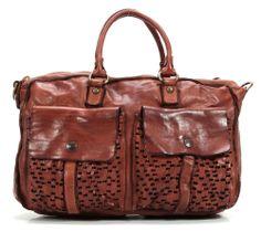 wardow.com - Tasche von Campomaggi, Lavata Shopper Leder cognac 39 cm