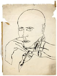Warhol Sketches:Very Francesco Clemente (or is it the other way around?)