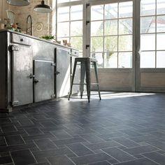 Sol vinyle cuisine : Tile Styles Alhambra de Saint-Maclou