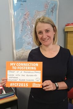 Celebrating fostering in Scotland day this Wednesday 3 June with our operations manager in Scotland #FCF2015