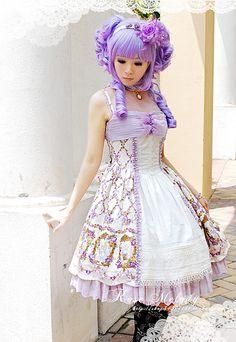Rose Melody Alice Fairytales JSK in Lavender